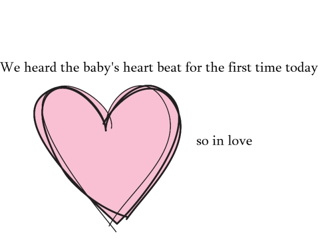 Baby's first heart beat
