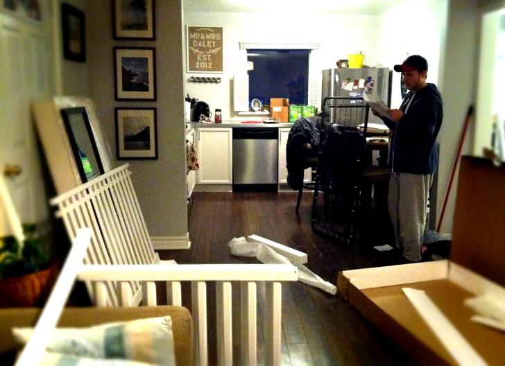 setting up crib